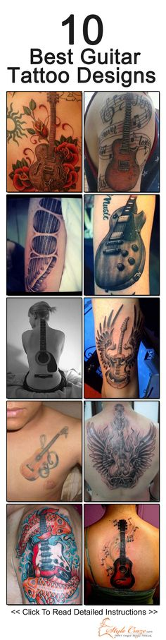 Best Guitar Tattoo Designs - Our Top 10 Picks