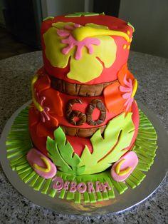 Luau cake by Michelle Chapman