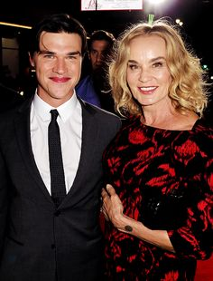Finn Wittrock, who will play Dandy on Freak Show, and Jessica Lange