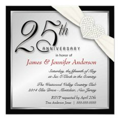 25th wedding anniversary party invitations in 2018 40th