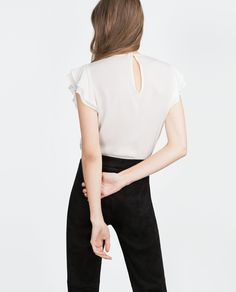 COMBINED LACE BLOUSE-View all-Tops-WOMAN | ZARA Canada