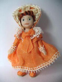 Shabby Chic Toy Doll's Doll by Artisan Sandra Morris - 1/12 dollhouse miniature