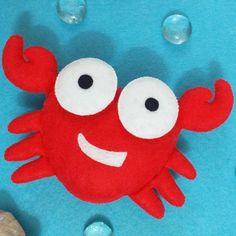 Felt crab pattern, baby mobile felt, crab sewing tutorial, pdf felt pattern, Sea Animals Doll Ornament, Crab plushie pattern, Ocean ornament Handmade Ideas, Handmade Decorations, Handmade Baby, Handmade Toys, Etsy Handmade, Felt Crafts Patterns, Plushie Patterns, Stuffed Toys Patterns, Baby Mobile Felt