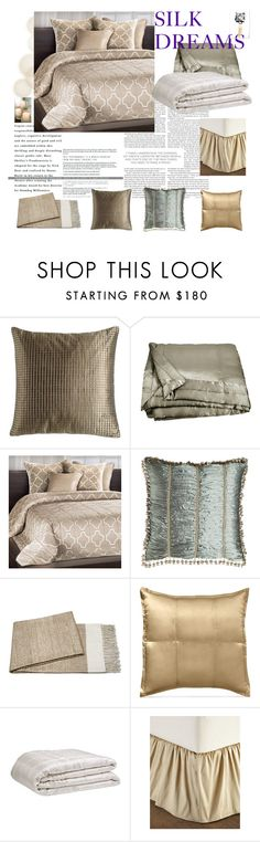 """""""Silk dreams"""" by luxthrill ❤ liked on Polyvore featuring interior, interiors, interior design, home, home decor, interior decorating, Austin Horn Collection, Donna Karan, Sweet Dreams and La Perla"""
