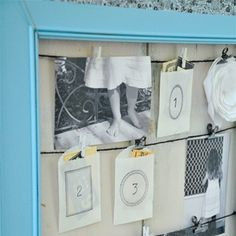 DIY Picture Frame w/ clothespins!