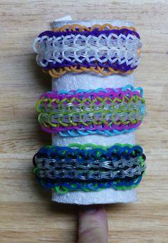 "Rainbow Loom Bracelet - Original Design - ""CUFFLET"" (ref # 4ii)"