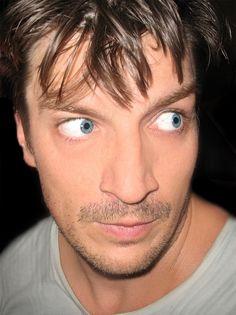 Nathan Fillion My GOD, look at his eyes...!