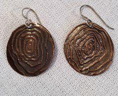 Salt Etched Woodgrain Earrings by IdolHandsCreations on Etsy https://www.etsy.com/listing/231710861/salt-etched-woodgrain-earrings