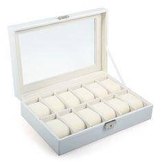 29.00$  Watch here - https://alitems.com/g/1e8d114494b01f4c715516525dc3e8/?i=5&ulp=https%3A%2F%2Fwww.aliexpress.com%2Fitem%2FPVC-Leather-Watch-Case-Box-12-Grids-Watch-Case-Jewelry-Display-Box-Watch-Organizer-Box-Holder%2F32649446475.html - Luxury Brand Watch Display Box Faux Leather Watch Box 12 Grid Case Jewelry Storage Organizer Box Gift caja reloj Case 29.00$
