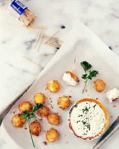 Mozzarella Sticks with Jalapeno Ranch - Foodess