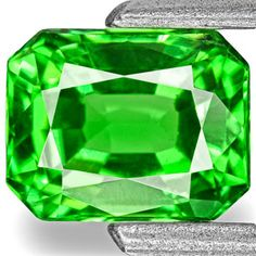 0.77-Carat VVS-Clarity Neon Green Tsavorite Garnet from Kenya
