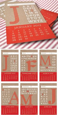 "Two Trick Pony's awesome 2012 ""Year of Type"" calendar"