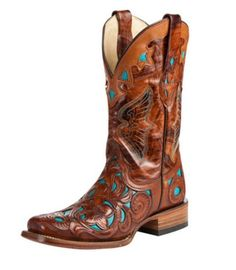 "Cool Great Corral Ladies Genuine Leather 11"" Cowboy Western Boots Chedron Teal R6761  2017 2018 Check more at http://shop24.gq/fashion/great-corral-ladies-genuine-leather-11-cowboy-western-boots-chedron-teal-r6761-2017-2018/"