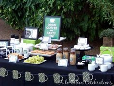Starbucks Themed Birthday Party - now that's my idea of a party.  :)