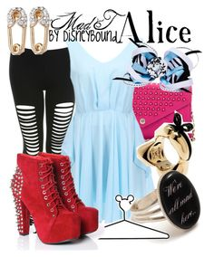 Mad T - Alice by leslieakay on Polyvore featuring polyvore, fashion, style, Miss Selfridge, Rebecca Minkoff, Juicy Couture, Disney, clothing and disney