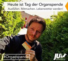 Heute ist Tag der Organspende! Ausfüllen. Mitmachen. Lebensretter werden! #organspende #lebensretter #ausweis #Bayern #menschen #leben #retten Organ Donation, Life Savers, Bavaria, People