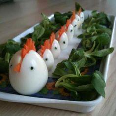 Hard Boiled Egg 'Chickens'!