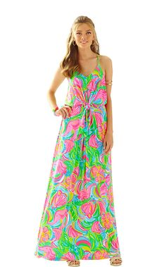 Rosa Strappy Maxi Dress - Lilly Pulitzer