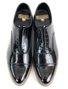 d4b653792cc0 Tuxedo Wedding Shoes 10 D Concord Black Patent Leather Prom EU 43 Stacy  Adams