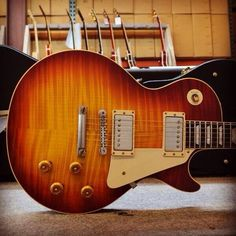 #Gibson '59 Les Paul #Reissue VOS in Washed #Cherry #guitar #lespaul