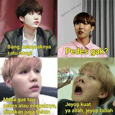 Meme bts Suga Ang J-hope Funny Baby Memes, Memes Funny Faces, Stupid Memes, Funny Babies, Bts Suga, Bts Bangtan Boy, Boy Meme, Bts Aesthetic Pictures, Drama Memes