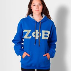 Zeta Phi Beta Contrast Hoody $32.95 #Greek #Sorority #Clothing #ZetaPhiBeta #Zeta