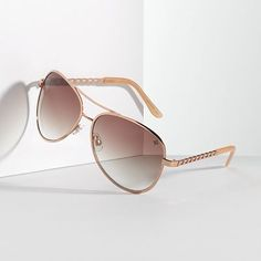 Simply Vera Vera Wang The Big Day Aviator Sunglasses