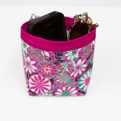 CAR CELLPHONE CADDY Amy Butler Daisy Shine Pink Cell by GreenGoose