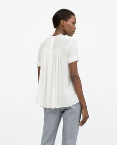 ZARA - WOMAN - PLEATED FRONT SHIRT