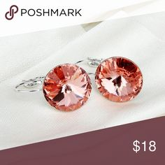 """Crimson Austrian Crystal Platinum Plated Earrings Crimson Austrian Crystal Real Platinum Plated Earrings . Fashion Earrings / Water Drop / Dangle / Vintage / Crystal   •Materials: 100% 18K Real Platinum Plated, AAA+ Cubic Zirconia Stone, Copper •Main Gem Size: 0.47"""" •Condition: New Jewelry Earrings"""