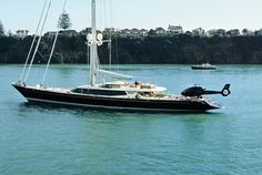 Alloy Yachts Tiara Superyacht - Tiara is a true performer, combining elegance and comfort with the capacity to efficiently roam the oceans under sail. Classical elegance with the exuberance of art deco style. Even has a heli-pad #NZ