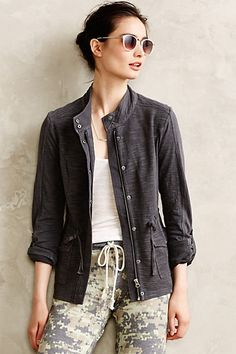 Cinched knit anorak anthropologie