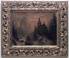 French Victorian picture landscape oil