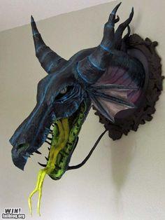 Maleficent Dragon, Faux Taxidermy.