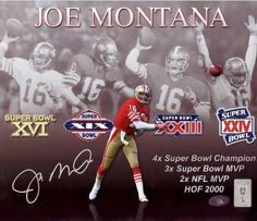 This is Photo that has been hand signed byÿJoe Montana.ÿIt has been certified authentic by Beckett Authentication (BAS) and comes with their sticker and matching certificate of authenticity. Nfl 49ers, 49ers Fans, Nfl Football, American Football, Fsu Baseball, 49ers Quarterback, Baseball Necklace, Football Stuff, Baseball Pants