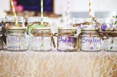 mson jar favors | personalized mason jar wedding favors