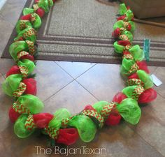 DIY Deco Mesh Garland (Holiday Decor Series) - The Bajan Texan