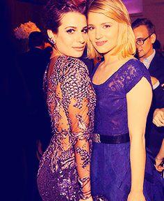 Lea Michele and Diana Agron