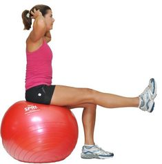 Ball exercises are great for working on core strength and balance while getting you more comfortable on an unstable surface. Get step by step instructions for ball exercises.: Seated Leg Extensions on the Ball Stability Ball Exercises, Balance Exercises, Bladder Exercises, Swiss Ball Exercises, Core Exercises, Workout Exercises, Dumbbell Workout, Losing Weight, Weight Loss