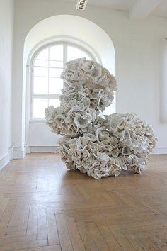 artwork by angelika arendt Contemporary Sculpture, Contemporary Art, Modern Art, Abstract Sculpture, Sculpture Art, Paper Installation, Art Installations, Instalation Art, 3d Art