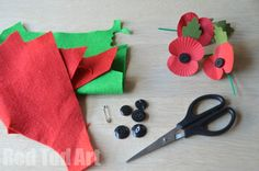 Remembrance Sunday - DIY Felt Poppy - Red Ted Art - Make crafting with kids easy & fun Art Activities For Kids, Art For Kids, Crafts For Kids, Arts And Crafts, Ceramic Poppies, Remembrance Sunday, Poppy Pattern, Anzac Day, Felt Diy