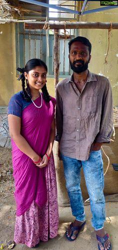 Ammu Abhirami  shooting spot  vetri maran  dhanush pair Asuran Movie Actress Ammu Abirami Latest HD Photo Collections Hd Photos, Indian Beauty, Cinema, Saree, Pairs, Actresses, Collections, Gallery, Movies