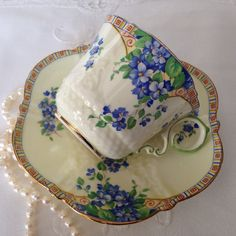 Aynsley Tea Cup & Saucer by tracie