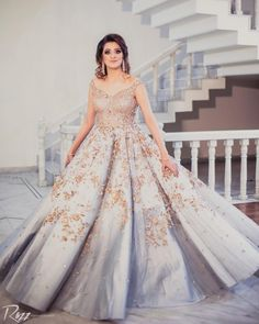 Indo-Western Dress Ideas For Brides To Rock Their Engagement Outfits Engagement Dress For Bride, Engagement Gowns, Western Gown, Western Dresses, Western Outfits, Bridal Outfits, Bridal Gowns, Wedding Dresses, Wedding Wear
