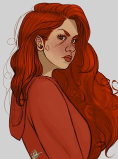 This is the first art I've seen that actually looks like how I pictured Scarlet! So many people think that Scarlet has green eyes, smooth and clear skin, and straight hair. Fanart, Lunar Chronicles Books, Scarlet Lunar Chronicles, Marissa Meyer Books, First Art, Best Series, Cinder, Book Nerd, The Lunar Chronicles