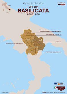 Tutti i vini DOP (DOCG e DOC) della Basilicata, localizzati sulla carta regionale. Al link le informazioni sulle tipologie e sugli uvaggi.  Italian Wine Region Basilicata Wine Pics, Wine Poster, Wine Guide, Restaurant Concept, Wine Cheese, Italian Wine, Fine Wine, Wine Drinks, Cabernet Sauvignon