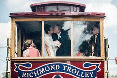 Photo from Drew & Allie collection by Mykkah Photography Richmond Trolley #wedding #RVA #rvaweddings #weddingceremony #venue #rvavenue  JLCC  1700 Lakeside Avenue  Richmond, VA 23228 www.Jeffersonlakeside.com https://www.facebook.com/jeffersonlakeside