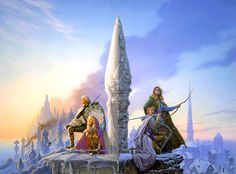 Memory, Sorrow, and Thorn Trilogy (The Dragonbone Chair, The Stone of Farewell, To Green Angel Tower) by Tad Williams - Great Epic Fantasy Fantasy Series, Sci Fi Fantasy, Fantasy Books, Fantasy World, Tad Williams, Art Visionnaire, 3d Modelle, Fantasy Paintings, Fantasy Artwork
