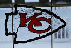 Kansas City Chiefs sun catcher/ wall hanging by ManemannArt, $60.00
