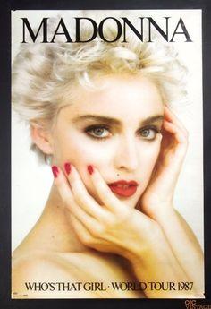 Madonna - Who's That Girl - World Tour 1987 - Mini Print Madonna Tour, Madonna 80s, Lady Madonna, Madonna Albums, Madonna Photos, Best Female Artists, Female Singers, Celebrity Babies, Celebrity Photos